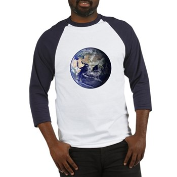 Eastern Earth from Space Baseball Jersey