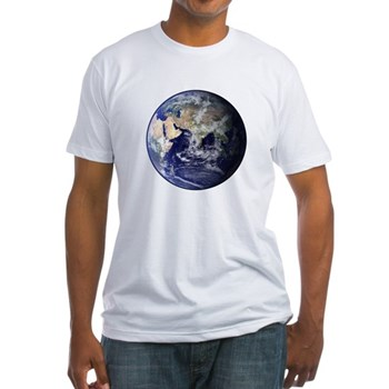 Eastern Earth from Space Fitted T-Shirt