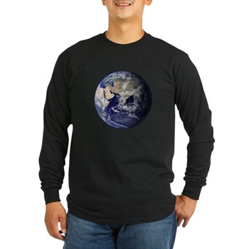 Eastern Earth from Space Long Sleeve Dark T-Shirt