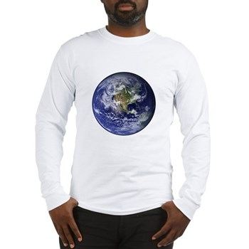 Western Earth from Space Long Sleeve T-Shirt