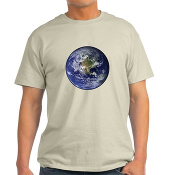 Western Earth from Space Light T-Shirt
