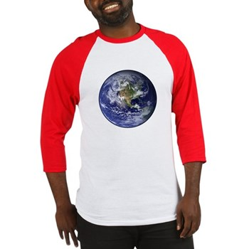 Western Earth from Space Baseball Jersey