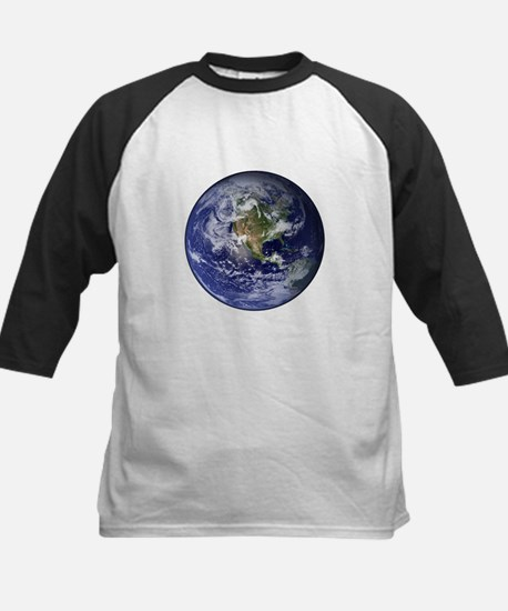 Western Earth from Space Kids Baseball Jersey