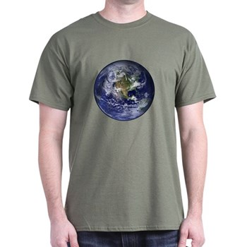 Western Earth from Space Dark T-Shirt