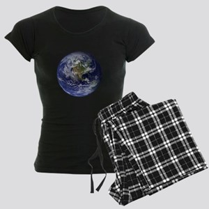 Western Earth from Space Women's Dark Pajamas