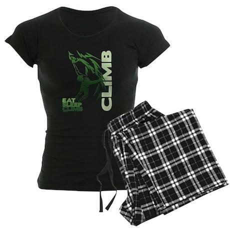 Eat Sleep Climb Women's Dark Pajamas