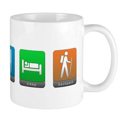 Eat, Sleep, Backpack Mug
