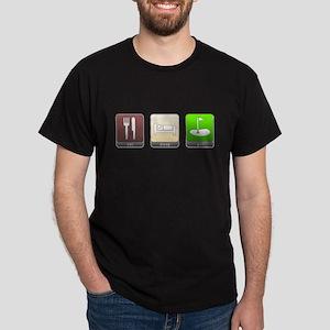 Eat, Sleep, Golf Dark T-Shirt