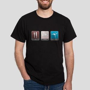 Eat, Sleep, Gymnastics Dark T-Shirt