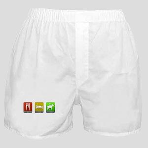 Eat, Sleep, Ride Boxer Shorts
