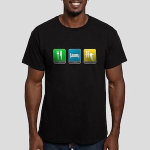 Eat, Sleep, Lift Men's Fitted T-Shirt (dark)