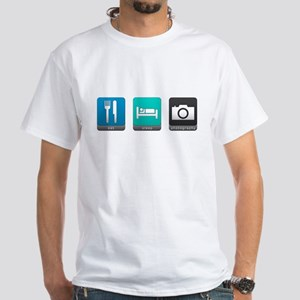 Eat, Sleep, Photography White T-Shirt