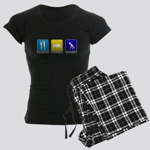 Eat, Sleep, Stargaze Women's Dark Pajamas