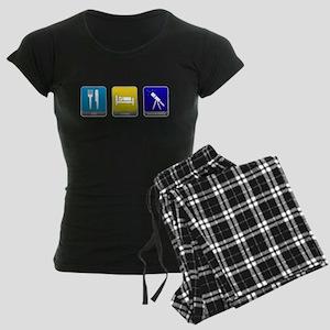 Eat, Sleep, Astronomy Women's Dark Pajamas