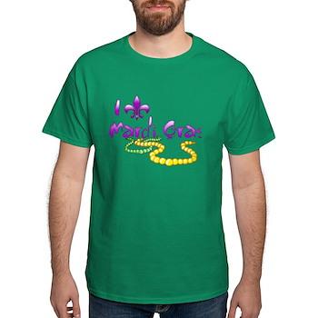 I Fleur-de-Lis Mardi Gras Dark T-Shirt