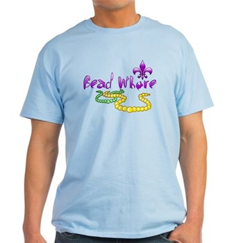 Mardi Gras Bead Whore Light T-Shirt