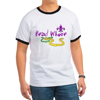 Mardi Gras Bead Whore Ringer T