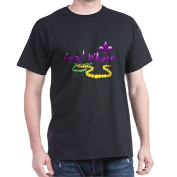 Mardi Gras Bead Whore Dark T-Shirt