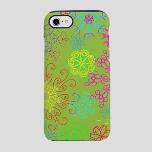 Neon Flowers iPhone 7 Tough Case