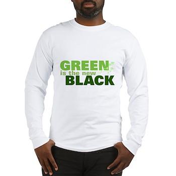 Green New Black Long Sleeve T-Shirt
