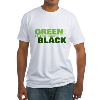 Green New Black Fitted T-Shirt