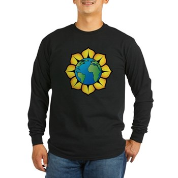 Blooming Earth Long Sleeve Dark T-Shirt