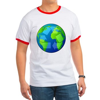 Planet Earth - Recycle Ringer T