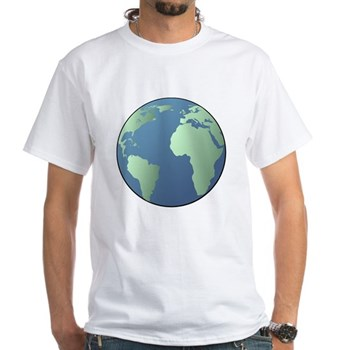 Planet Earth White T-Shirt