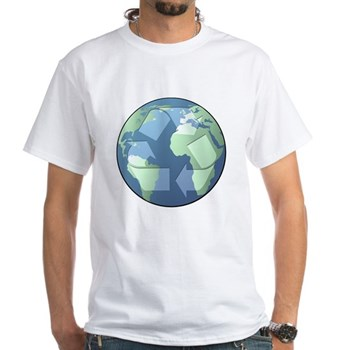 Planet Earth - Recycle White T-Shirt