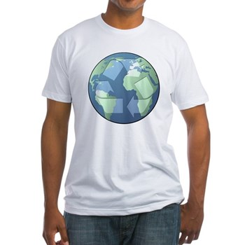 Planet Earth - Recycle Fitted T-Shirt