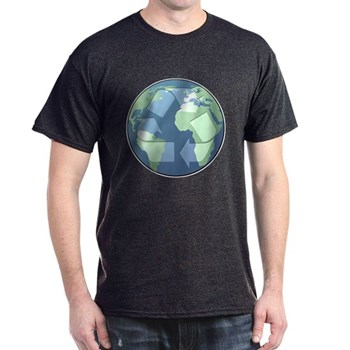 Planet Earth - Recycle Dark T-Shirt