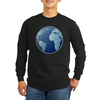 Blue Planet Long Sleeve Dark T-Shirt