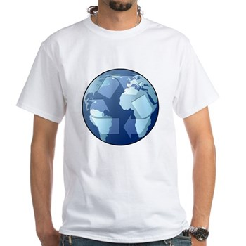 Blue Planet - Recycle White T-Shirt