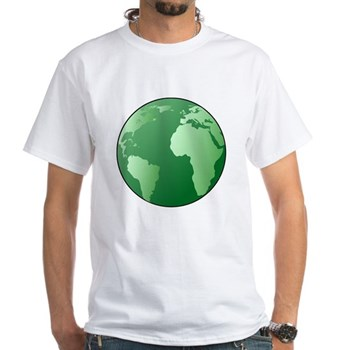 Green Earth White T-Shirt