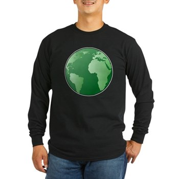 Green Earth Long Sleeve Dark T-Shirt