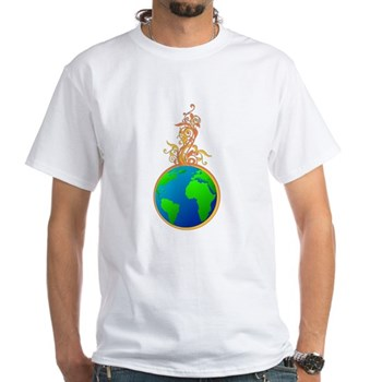 Blooming Earth White T-Shirt