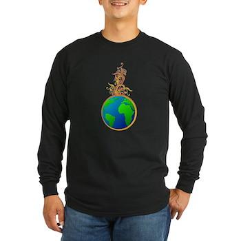 Blooming Earth Long Sleeve Dark T-Shirt