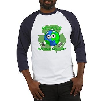 Earth Guy - Recycle Baseball Jersey