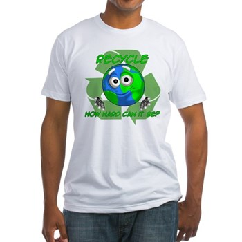 Earth Guy - Recycle Fitted T-Shirt