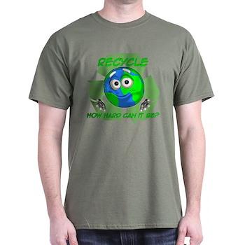 Earth Guy - Recycle Dark T-Shirt
