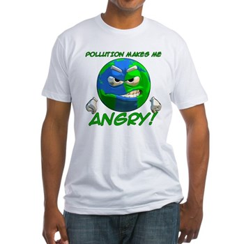 Angry Earth Fitted T-Shirt