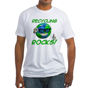 Recycling Rocks! Fitted T-Shirt