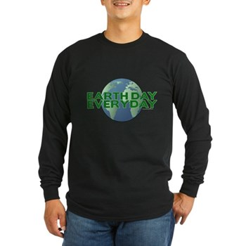 Earth Day Everyday Long Sleeve Dark T-Shirt