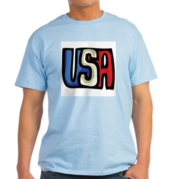 Red, White and Blue USA Light T-Shirt