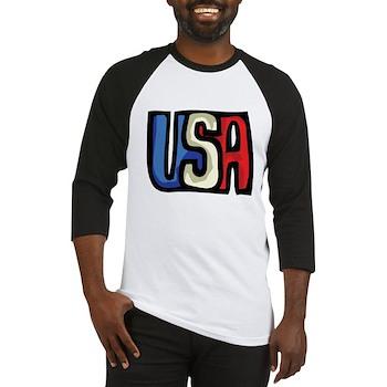 Red, White and Blue USA Baseball Jersey