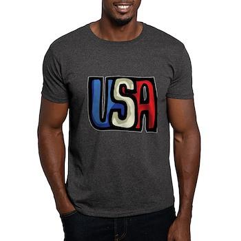 Red, White and Blue USA Dark T-Shirt