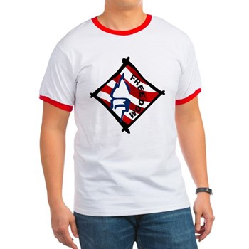 Red, White and Blue Freedom Ringer T