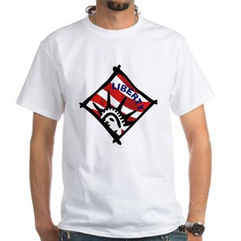 Red, White and Blue Liberty White T-Shirt