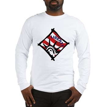 Red, White & Blue Liberty Long Sleeve T-Shirt