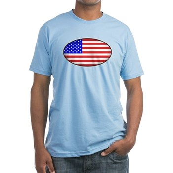 Oval American Flag Fitted T-Shirt